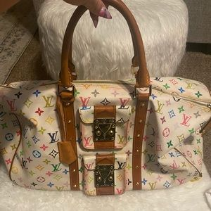 Louis Vuitton Multicolor keep all 50 travel bag